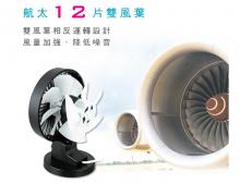 超耐用靜音雙葉風扇-1
